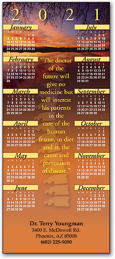 Sunset, Dr. of the Future Promotional Calendar