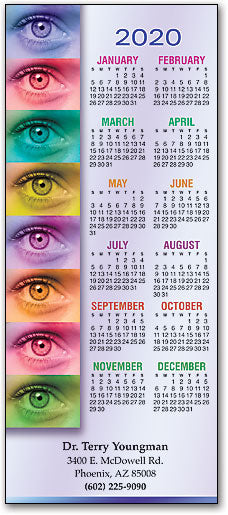 Colorful Eyes Border Promotional Calendar