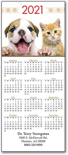 Bulldog And Kitty Promotional Calendar