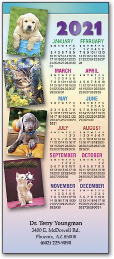 Pet Rainbow Promotional Calendar