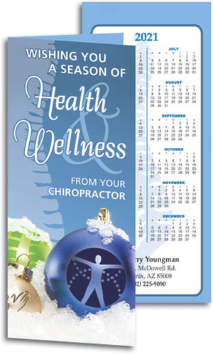 Chiro Ornaments Tear-off Calendar Card with Envelope