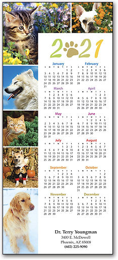 Six Season Pets Tri-Fold Calendar with Envelope