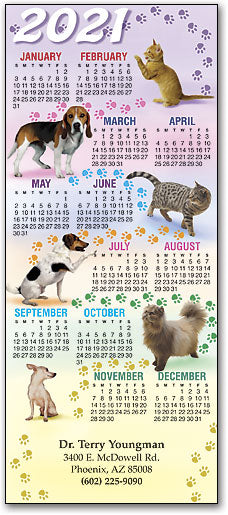 Pawprint Path Pets Promotional Calendar