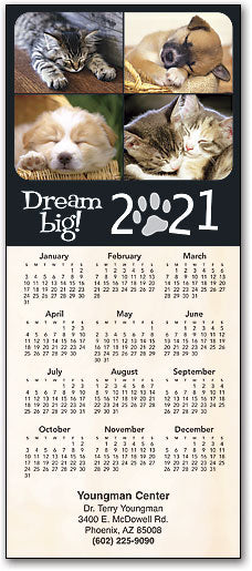 Dream Big Pets Customisable Promotional Calendar