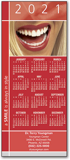 Smile In Style Promotional Calendar