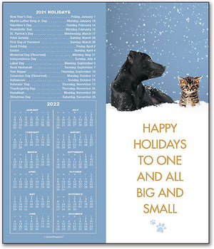 Big and Small Tear-off Calendar Card with Envelope