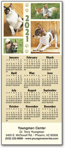Playful Pets Promotional Calendar