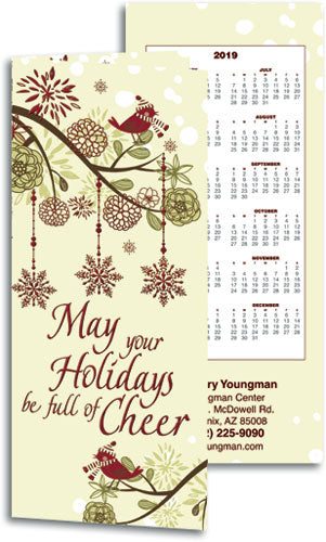 Treetop Cheer Tear-Off Calendar Card with Envelope