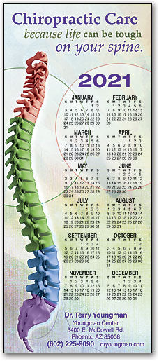 Tough On Spine Customizable Promotional Calendar