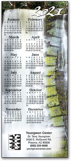 Spine in Waterfall Promotional Calendar