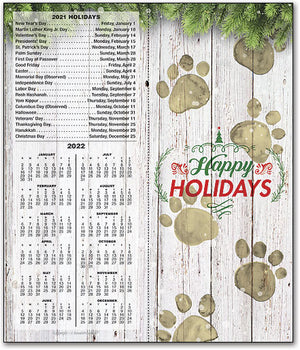 Rustic Paws Tear Off Calendar