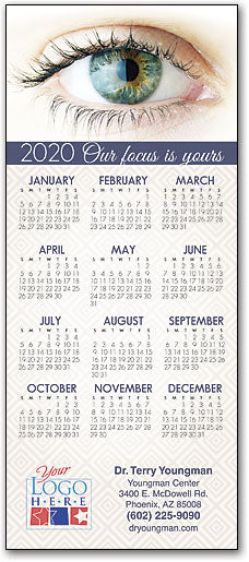 Year In Focus Customizable Promotional Calendar