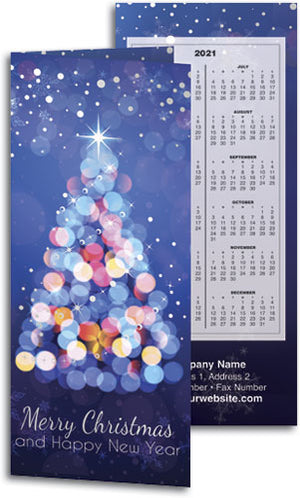 Luminous Year Tear Off Calendar Card with Envelope