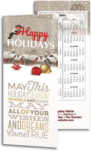 First Snow Tear Off Calendar Card with Envelope