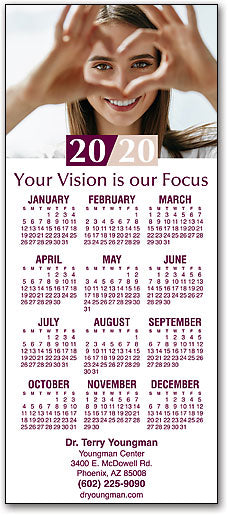 Love Your Vision Promotional Calendar
