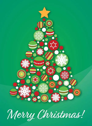 Merry Christmas - Bauble tree collection (Green)