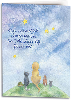 Pets on the Hill Folding Card