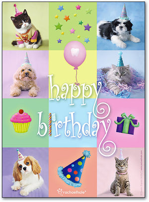 Birthday Pets Folding Card