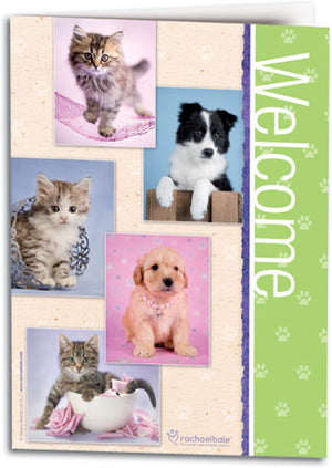 Welcome Animal Squares Folding Card