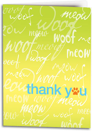 Thank You Woof Meow Folding Card