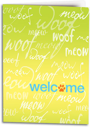 Welcome Woof Meow Folding Card