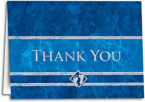 Thank You Blue Feet Folding Card