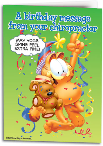 Birthday Chiro Message Folding Card