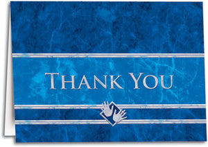 Thank You Blue Marble Folding Card