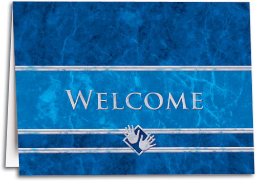 Welcome Blue Marble Folding Card