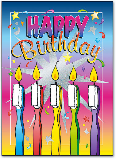 Toothbrush Candles Folding Card