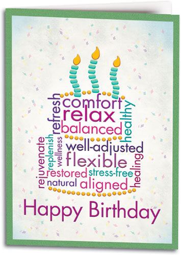 Birthday Word Cake Chiro Folding Card