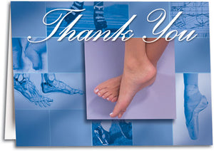 Podiatry Graph Thank You Folding Card