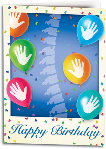 Chiropractic Celebration Folding Card