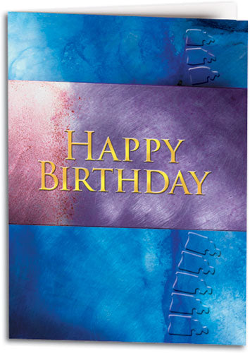 Birthday/Blue Spine Folding Card