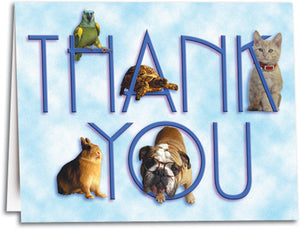 All Pets Thank You Notesized Folding Card