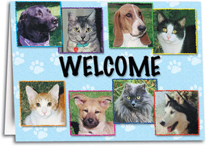 Welcome Pawtraits Folding Card
