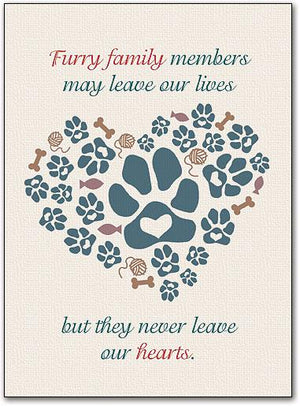 Furry Friends are Family customisable Folding Card