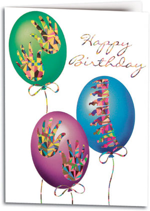 Graphic Balloons Folding Card