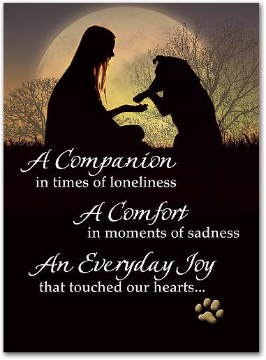 Loyal Companion customisable Folding Card