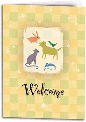 Welcome Pet's Place Folding Card