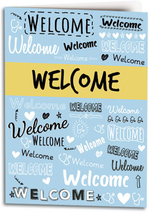 Pleasant Words Welcome Folding Card