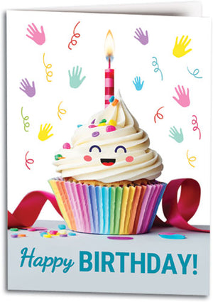 Cheerful Cupcake Folding Card