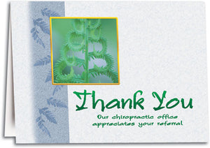 Thank You Spine Plant Folding Card