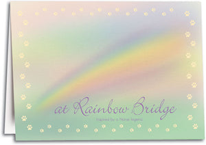 Soft Rainbow Folding Card