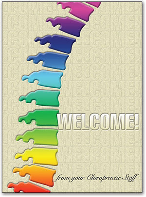 Color Spine Welcome Folding Card
