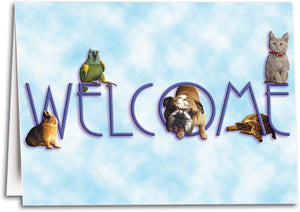 All Pets Welcome Notesized Folding Card