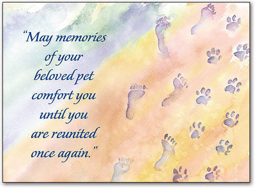 Footprints Sympathy Folding Card