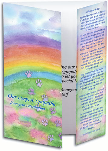 Rainbow Bridge Bookmark Card