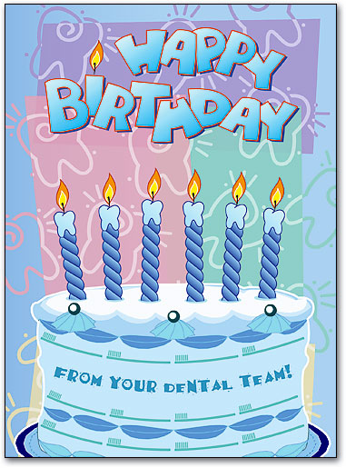 Tooth Candles Folding Card