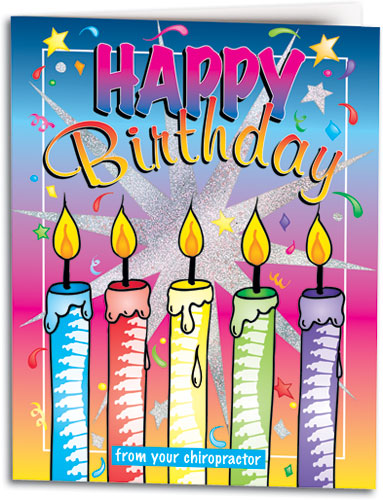 Birthday Candles Folding Card